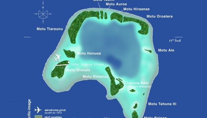 TETIAROA Map TETIAROA Carte