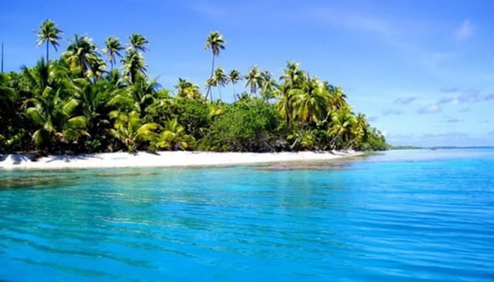 Lagon bleu Tuamotu