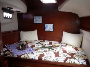 cabine arrière catamaran